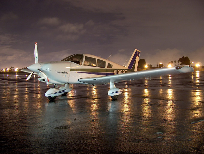 Water Cooled PA28-180 at night